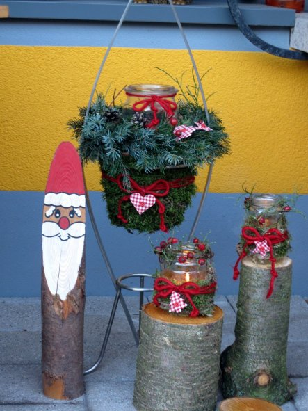 Weihnachtsdeko 'Vor der Tür...'