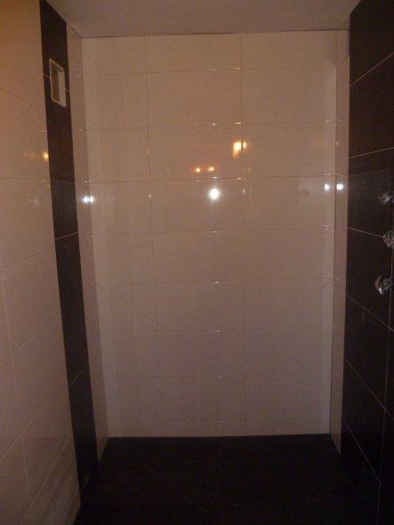 Dusche neu zum Retro-Pinken WC