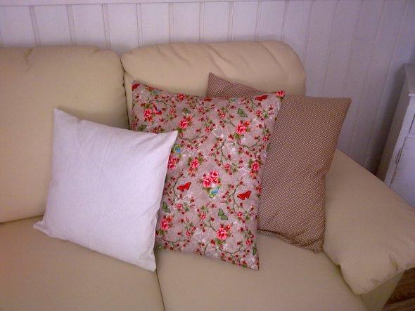 meine ersten selbstgenähten Kissenbezüge