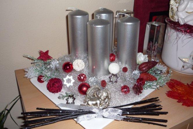 Weihnachtsdeko unser reich von toma 7965 zimmerschau - Weihnachtsdeko silber ...