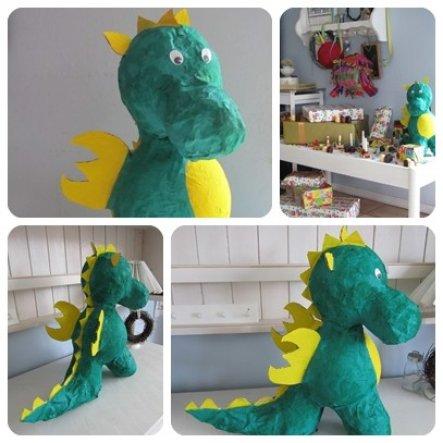 Den Dino haben Mara und ich für Matti zum Geburtstag Morgen  gebaut!!!!