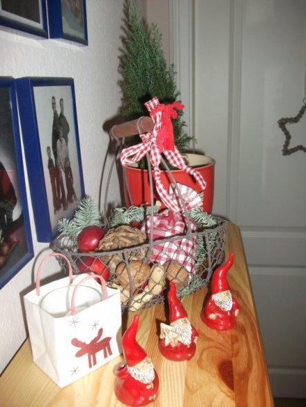 Weihnachtsdeko 'draußen vom Walde....es Weihnachtete sehr....'