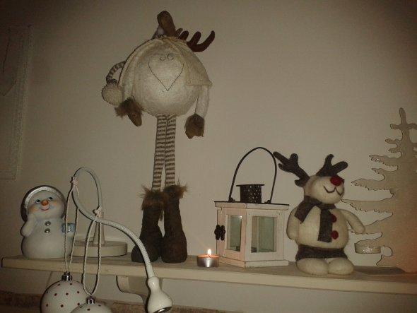 Weihnachtsdeko 'white christmas'