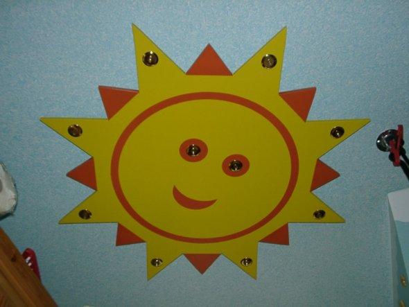 Sonne MDF Platte mit Niedervolt Leuchten, Decke in Wickeltechnick ausgeführt