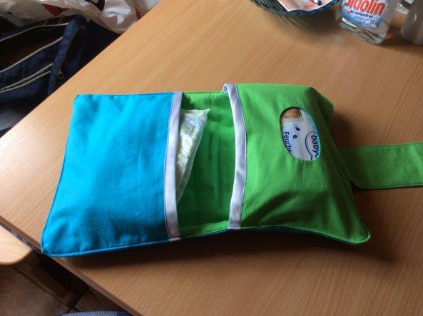 Tasche für Windeln und feuchtücher selbstgenäht