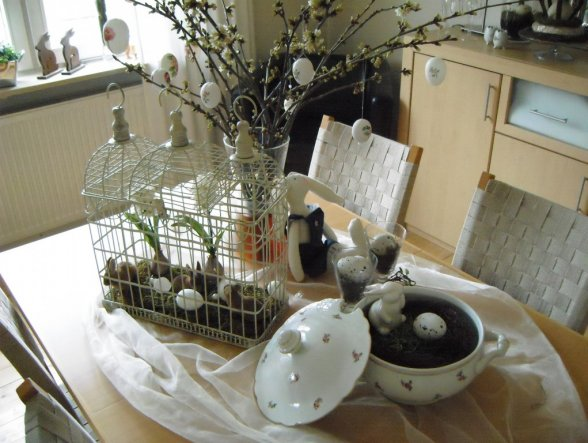 osterdeko 39 oster fr hlingsdeko 39 unser nest zimmerschau. Black Bedroom Furniture Sets. Home Design Ideas