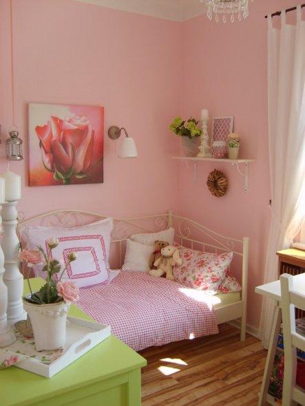 Schlafzimmer 'ich bin jetzt auch rosa :)'