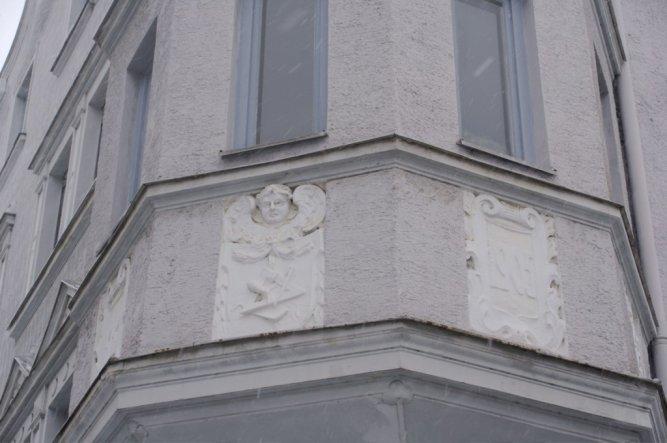 Teil der Hausfassade