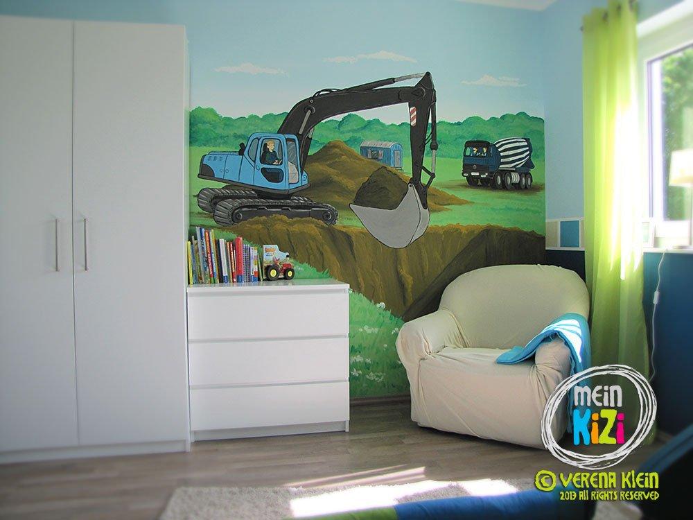 Charmant Wandbilder Kinderzimmer Bagger Bilder