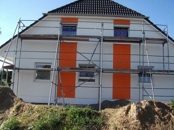 Hausfassade / Außenansichten 'Rohbau und aktuell'