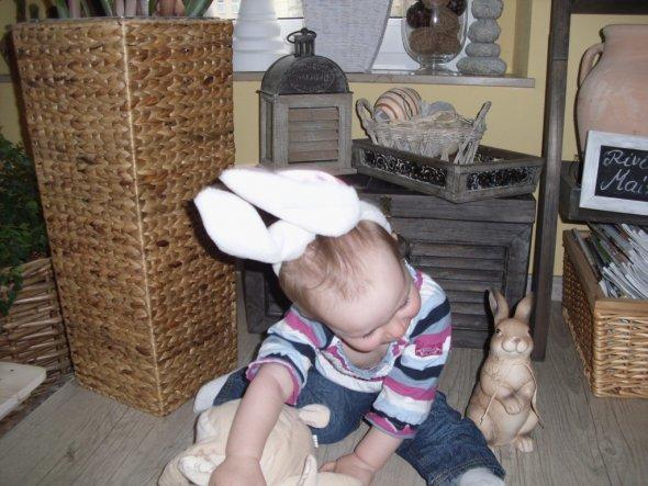 Wollte mit meiner Tochter als Model ne Osterkarte gestalten-hi, hi- hier das Ergebnis