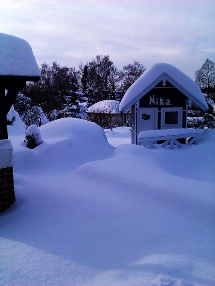 Na eigentlich is das jetzt aber genug Schnee für dieses Jahr.........