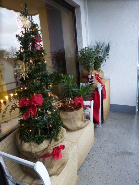 Weihnachtsdeko 'Balkon Weihnachten 2015'