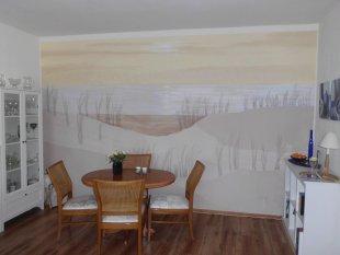 Wohnzimmer 'Wandbild Dünen'