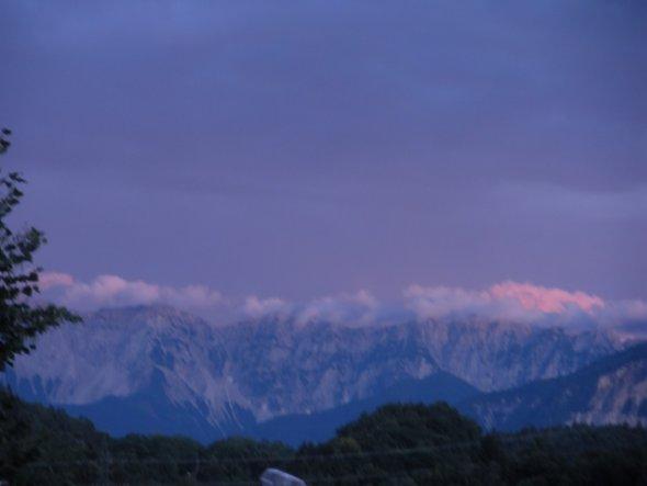Ausblick auf die Berge.