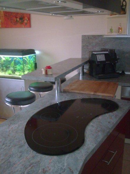wohnzimmer 39 wohnzimmer mit integrierter k che 39 unser trautes heim zimmerschau. Black Bedroom Furniture Sets. Home Design Ideas