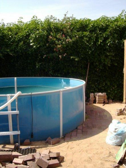da entsteht der neue Pool