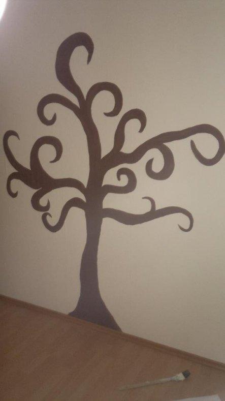 Diese leere Wand musste einfach weg und so hab ich mir wieder was neues einfallen lassen ;)