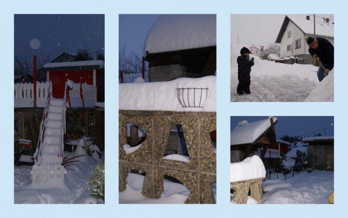 So sah es bei uns diesen Winter aus....