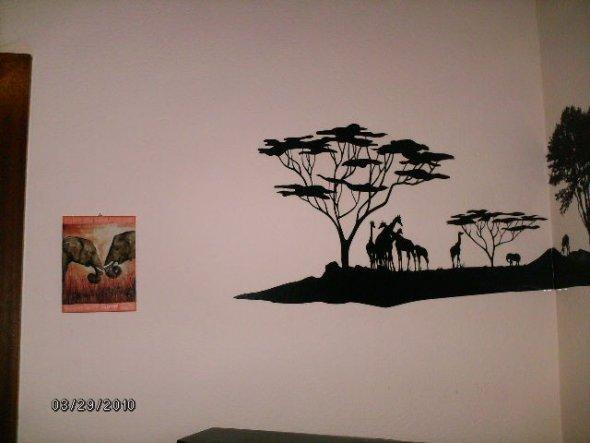 Wohnzimmer 'afrikanischer Wohn(t)raum'