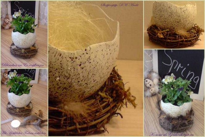 Ei mit Nest von DM-Markt