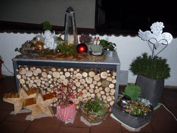 Weihnachtsdeko 'Weihnachten bei meinen Eltern'