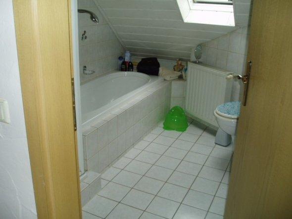 Blick ins kleine Bad-Finns giftrgünes Töpfchen steht noch jungfräulich hier rum ;-(