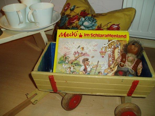 alter Steiff Teddy und Meckibuch