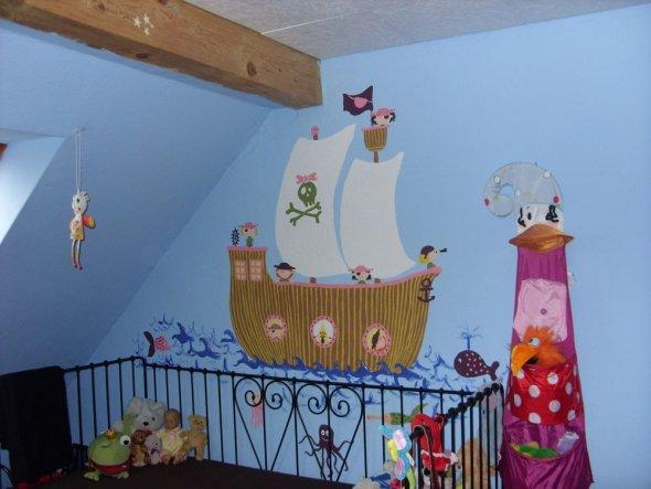 Piraten Kinderzimmer Ideen : Kinderzimmer Wandgestaltung Pirat: ?ber Ideen  Zu Piratenschiff