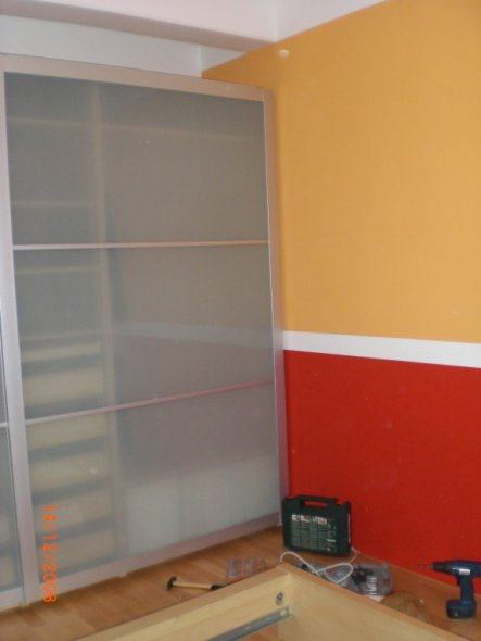Schlafzimmer 'Liebesnest in Rot/Orange'