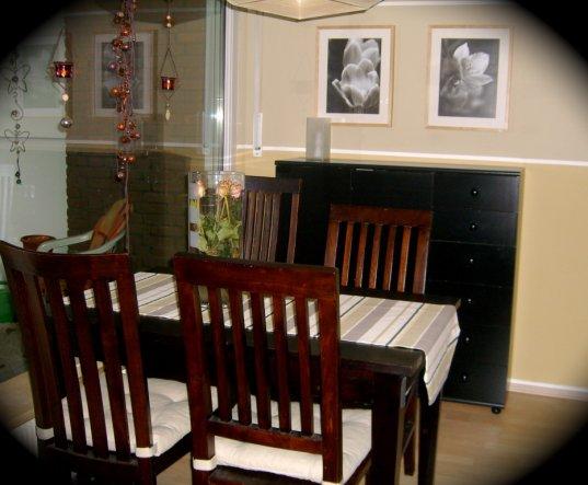 esszimmer 39 essbereich 39 meine kleine wohnung tennisdame zimmerschau. Black Bedroom Furniture Sets. Home Design Ideas