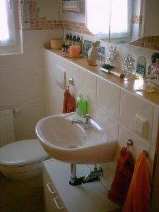 bad 39 g ste wc 39 einfach zuhause zimmerschau. Black Bedroom Furniture Sets. Home Design Ideas