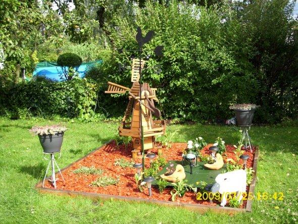 Garten 'neuer Platz für die Windmühle'