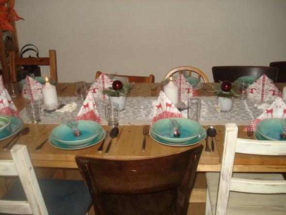 Tischdeko Heilig Abend 2009