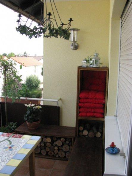 Eine Schöne Balkon Und Terrasse Gestaltung Setzen Sie ...
