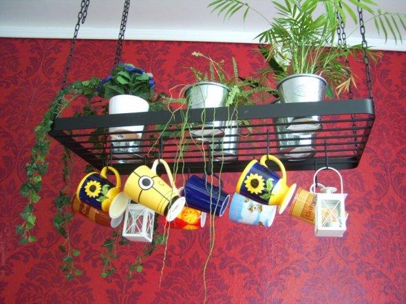 meine schönsten Alltagstassen und 2 Laternchen mit Teelicht