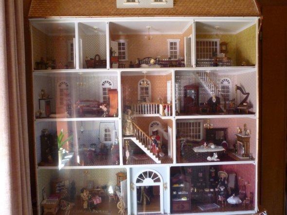 Hobbyraum Puppenhaus Mini Mundus Eingang Herzlich