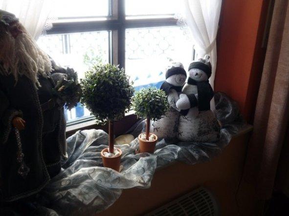 weihnachtsdeko eingang herzlich willkommen von christrose 16123 zimmerschau. Black Bedroom Furniture Sets. Home Design Ideas