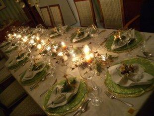 Tischdeko weihnachtsfeier  Wohnzimmer 'Wohnzimmer' - Landhaus - Zimmerschau