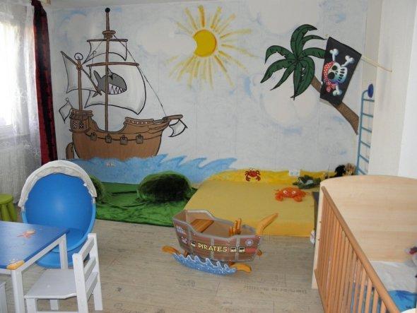 Kinderzimmer 39 piratenzimmer unseres j ngsten 39 unser haus - Piratenzimmer wandgestaltung ...