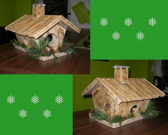 mein Schatz hat mir am Wochenende ein kleines Vogelhaus gebaut