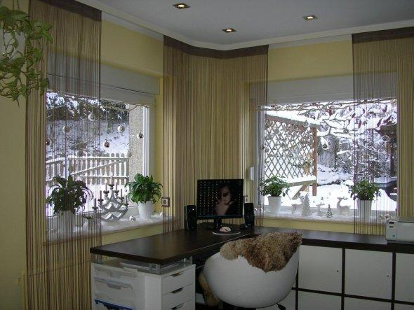 Wohnzimmer Ecke Schreibtisch
