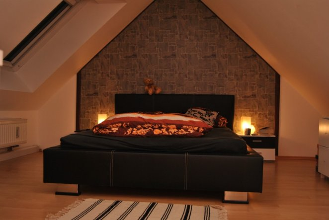 Steintapete grau schlafzimmer  Schlafzimmer 'Schlafgemach' - This is ours - Zimmerschau