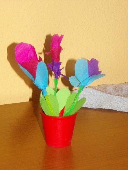 Erster versuch Blumen zu basteln.