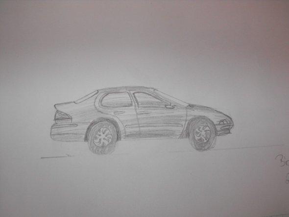 Erster Versuch Autos zu malen..sieht weder schön aus,noch machts Spass =)