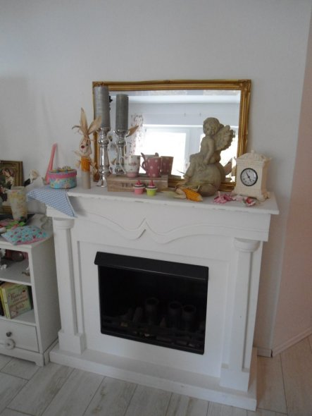 Wohnzimmer 'Unser gemütliches Wohnstübchen im Shabby chic'