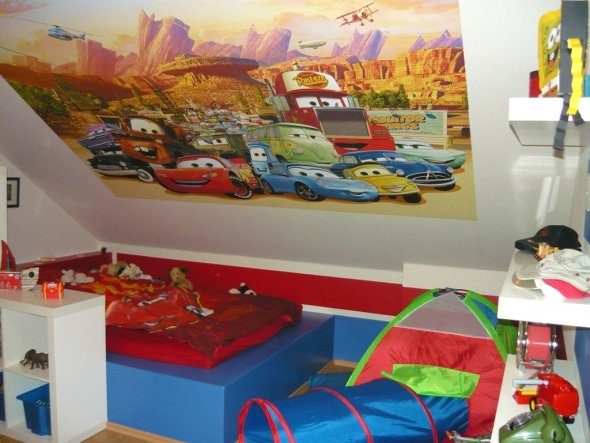 kinderzimmer ideen cars bibkunstschuur. Black Bedroom Furniture Sets. Home Design Ideas