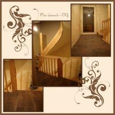 Flur oben - Treppe z. Büro-Gästezimmer