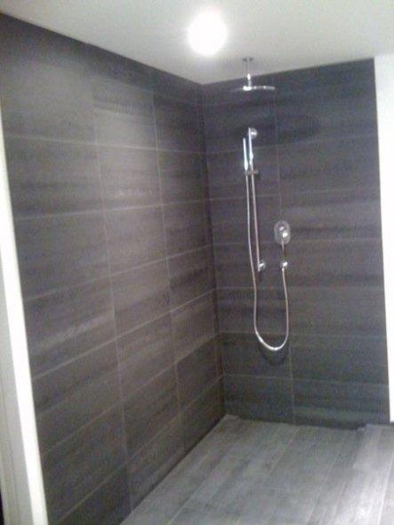 Dusche noch ohne Trennwand