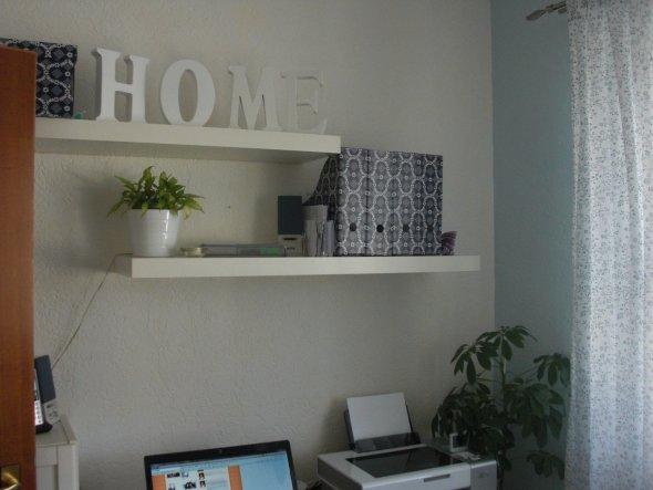 Hier unsere neue Bürowand!